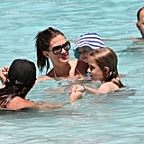 Shirtless Mark Wahlberg at Miami Pool Pictures With Family