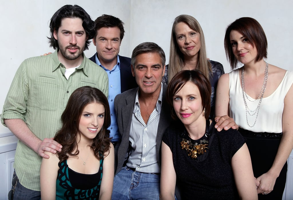 Up in the Air director Jason Reitman posed for a portrait with Anna Kendrick, Jason Bateman, George Clooney, Amy Morton, Vera Farmiga and Melanie Lynskey during the 2009 film festival.