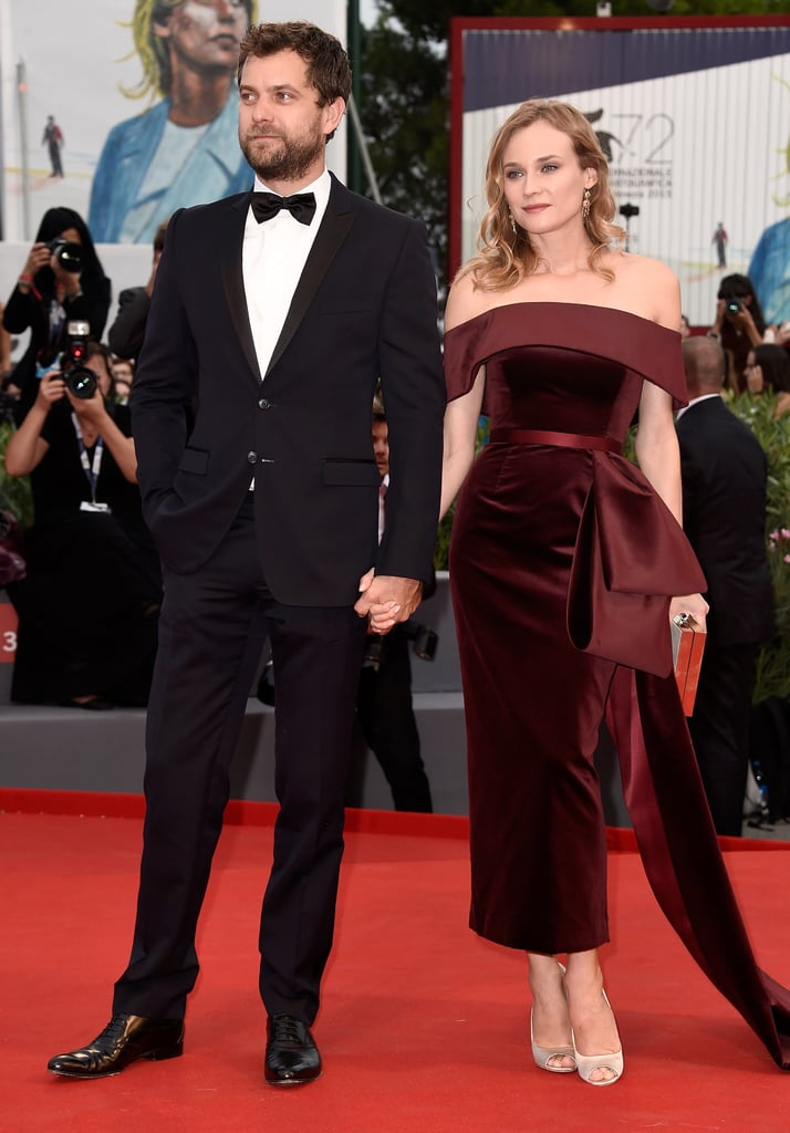 Diane and Joshua Jackson made one dapper duo at the Black Mass premiere where she wore Boss.