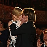 The two shared a lovely kiss at the London Evening Standard Theatre Awards in November 2015.