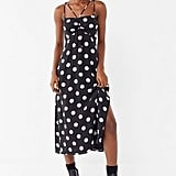 UO Polka Dot Strappy Cinched Slip Dress