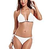 Zeraca Tie Side Triangle Bikini Set
