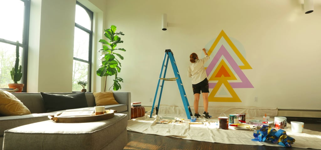 1 Famous Street Artist Reveals How to Create a Geometric Mural in Your Home