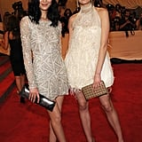 Liu Wen in Naeem Khan and Constance Jablonski in Jason Wu