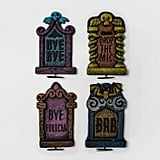 Neon Tombstone Halloween Decor