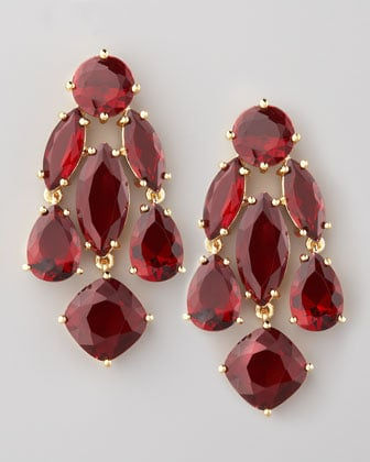 What better way to get festive than a pop of holiday-hued glamour on these Kate Spade Statement Earrings ($98).