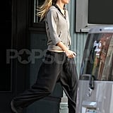 Gisele Bundchen exercises in Boston.