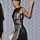 Eva Longoria waved on her way into the opening night dinner at the Cannes Film Festival.