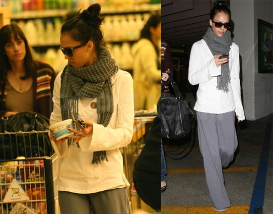 Photos of Jessica Alba Grocery Shopping Before Thanksgiving Holiday in LA