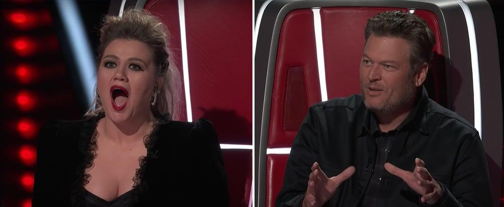 Watch Blake Shelton Tease Kelly Clarkson on The Voice