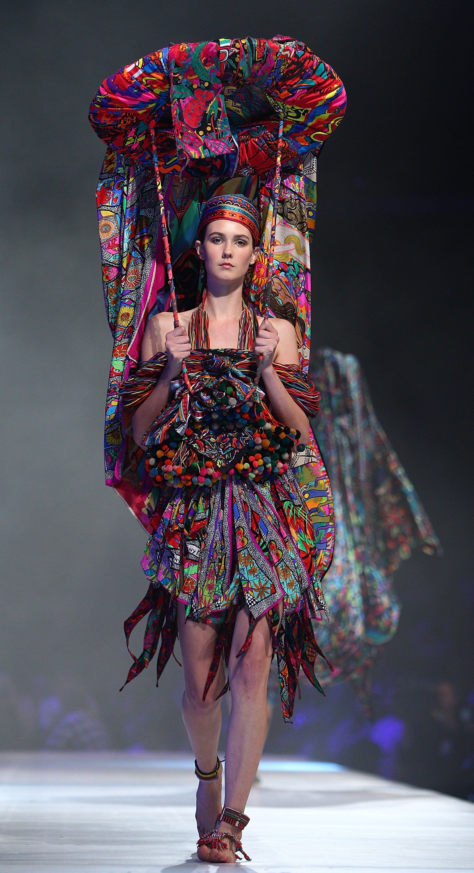 A fabulous concoction from the retrospective runway show.