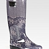 Even the girliest style setters have a rain boot worth flaunting — the Valentino Lace-Printed Rubber Rain Boots is just too pretty to pass up ($295).