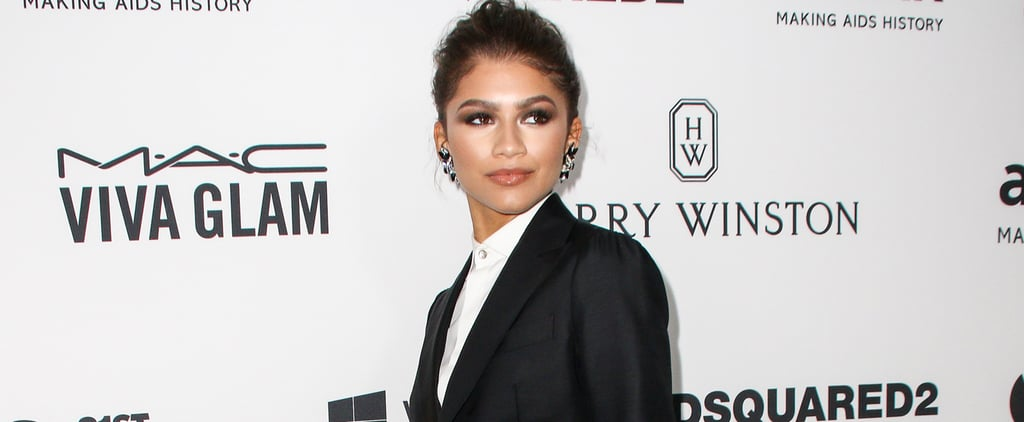 Zendaya Wearing a Suit at the Amfar Gala