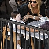 Rachel Zoe ate in West Hollywood with Skyler.
