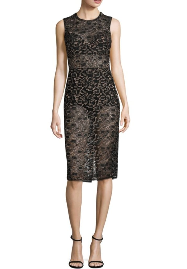 BCBGMAXAZRIA Sheer Dress