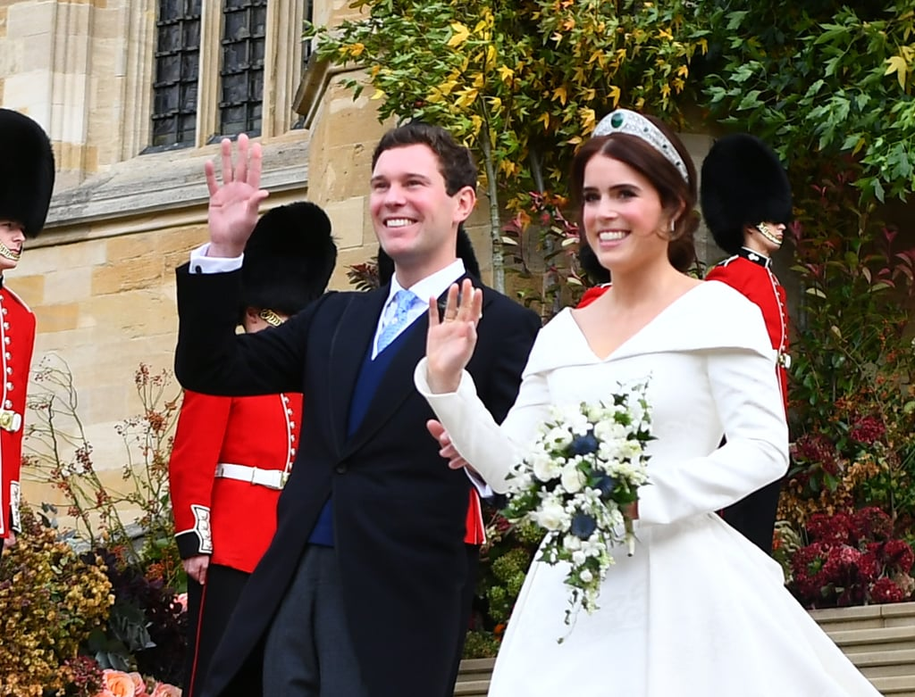 Princess Eugenie and Jack Brooksbank Waving in 2018