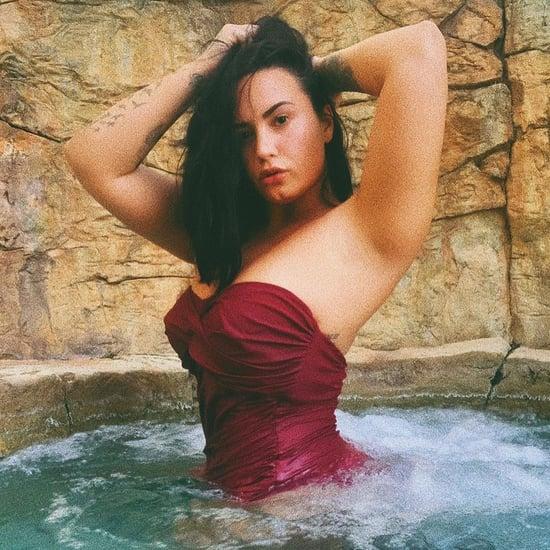 Demi Lovato Rocks Sexy Swimsuit in Hot Tub Instagram Photos