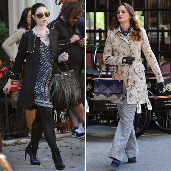 Leighton Meester on the Gossip Girl Set in NYC | Pictures ...
