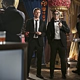 Hart of Dixie Wilson Bethel and Scott Porter masquerade-it-up on Hart of Dixie.