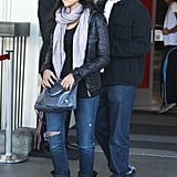 Matt Damon and Luciana Damon arrived in LA.