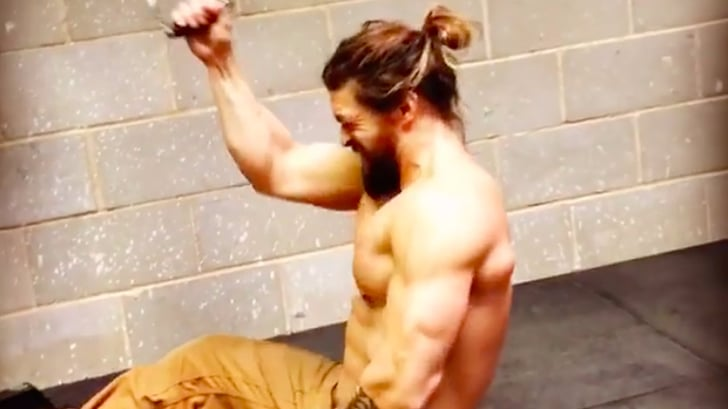 Jason Momoa Working Out In Jeans Popsugar Fitness