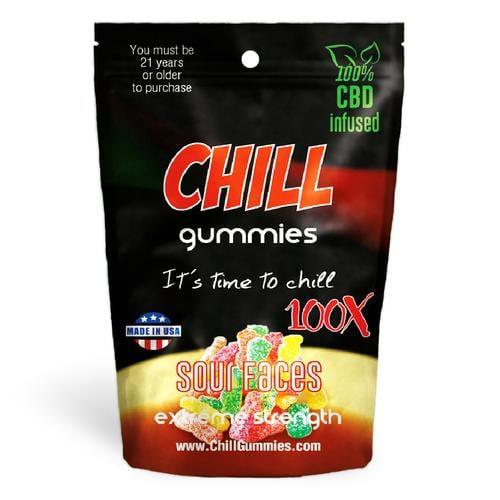 Chill Gummies Sour Faces