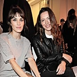 Rebecca Hall and Alexa Chung were front row at the Mulberry Spring Summer 2013 Show during London Fashion Week.