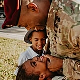 Photos of Military Dad Reuniting With Family Amid Pandemic