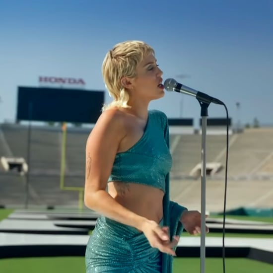 Miley Cyrus's Teal Alexandre Vauthier Dress For Global Goal