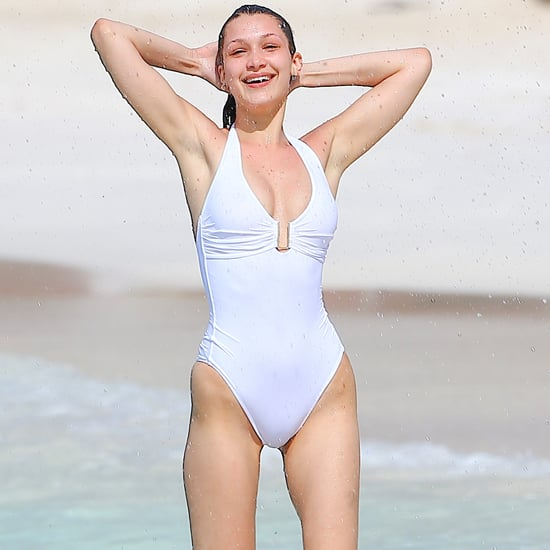 Bella Hadid's One-Piece Swimsuit in St. Barts 2016