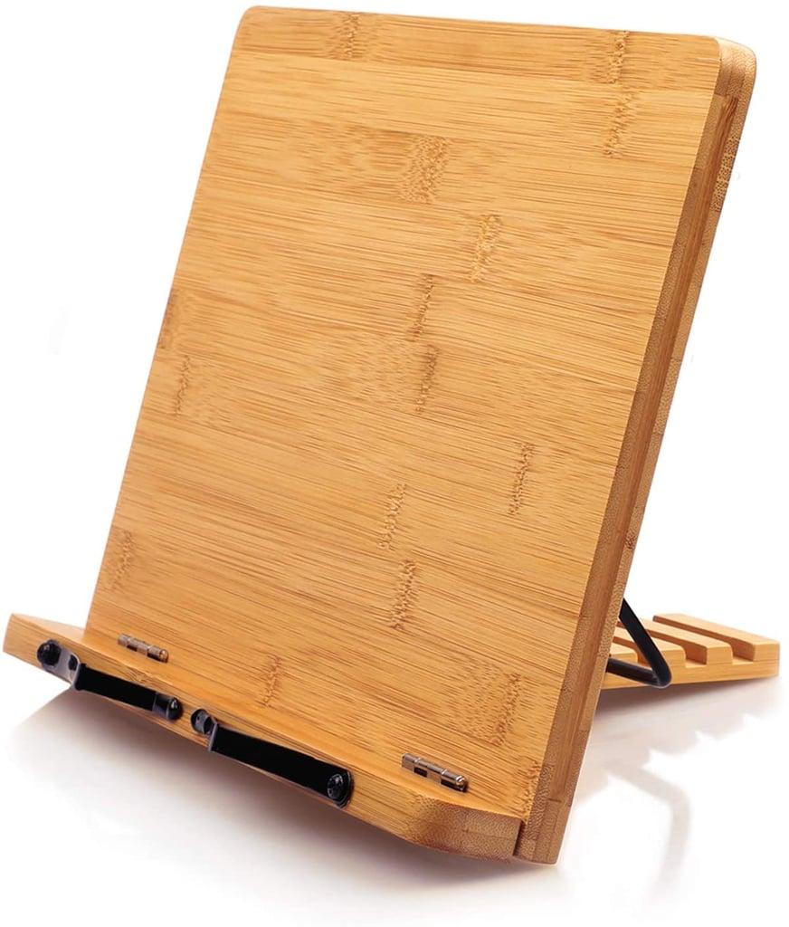 Bamboo Book Stand Cookbook Holder