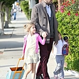 Ben Affleck took his daughters to the dentist in LA.
