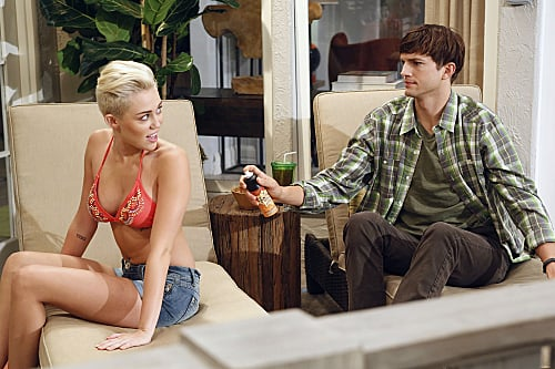 First Look at Miley Cyrus on Two and a Half Men in a Bikini