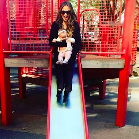 Chrissy Teigen and Luna at the Park October 2016