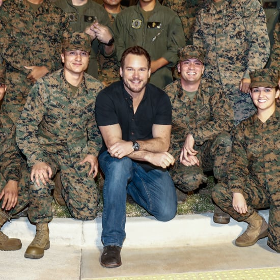 Chris Pratt at Marine Corps Base in San Diego Photos 2016