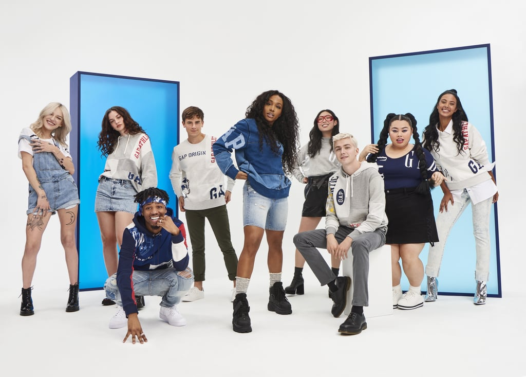 "Though it's undergone many transformations, the Gap logo continues to be one of the industry's most recognizable. The brand is now honoring its many logos throughout the years with a new nostalgic collection. The Logo Remix collection consists of sweatshirts, t-shirts, and hoodies all with a throwback feel. For the campaign, Gap tapped several famous faces and rising stars in the entertainment industry, including SZA, Miles Heizer of 13 Reasons Why, and Awkwafina, who stars in the upcoming Ocean's 8! ""Gap is always one to celebrate and bring culture to the mainstream and what better way to do this and highlight this group of global individuals,"" Chief Marketing Officer Craig Brommers said in a statement.  The Logo Remix commercial will officially air during the Grammy Awards on Jan. 28. The collection will be launching online on Jan. 27 and in select Gap stores on Jan. 29. Check out the crew and the feel-good campaign ahead.      Related:                                                                                                           This Empowering Lingerie Photo Series Redefines What It Means to Have a ""Perfect Figure"""