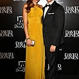 Newly-married (and expecting!) couple Rachael Finch and Michael Miziner were looking suitably stylish at David Jones' 175th birthday party in Sydney on May 23.