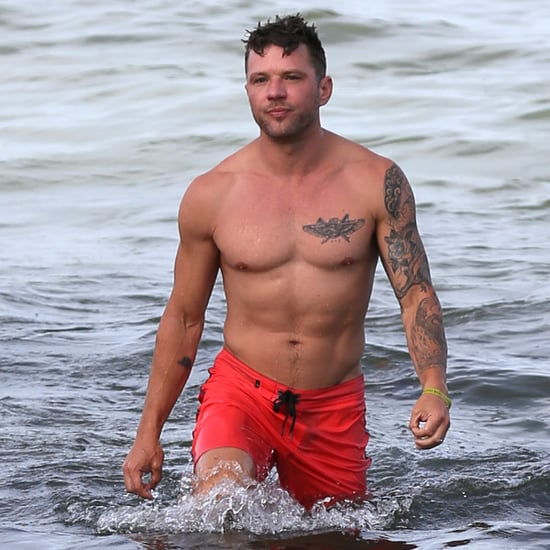Ryan Phillippe Shirtless on the Beach in Miami July 2018