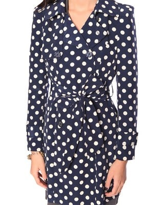Forever 21 satin polka dot trench ($38)