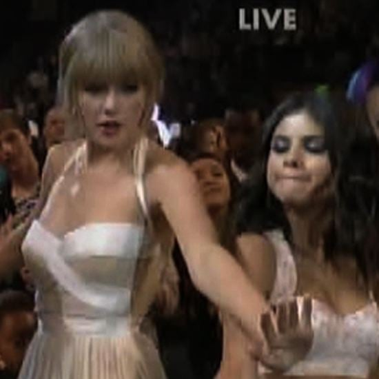 Taylor Swift and Selena Gomez Dancing at Kids Choice Awards