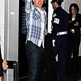 Tom Cruise was happy to arrive in Japan.