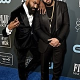 Desus Nice and The Kid Mero at the 2020 Critics' Choice Awards
