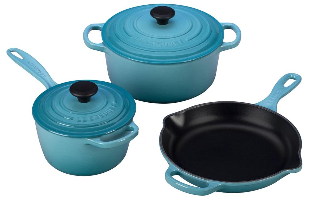 Le Creuset 5 Piece Signature Enameled Cast Iron Cookware Set