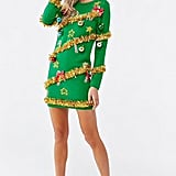 Christmas Tree Sweater Dress