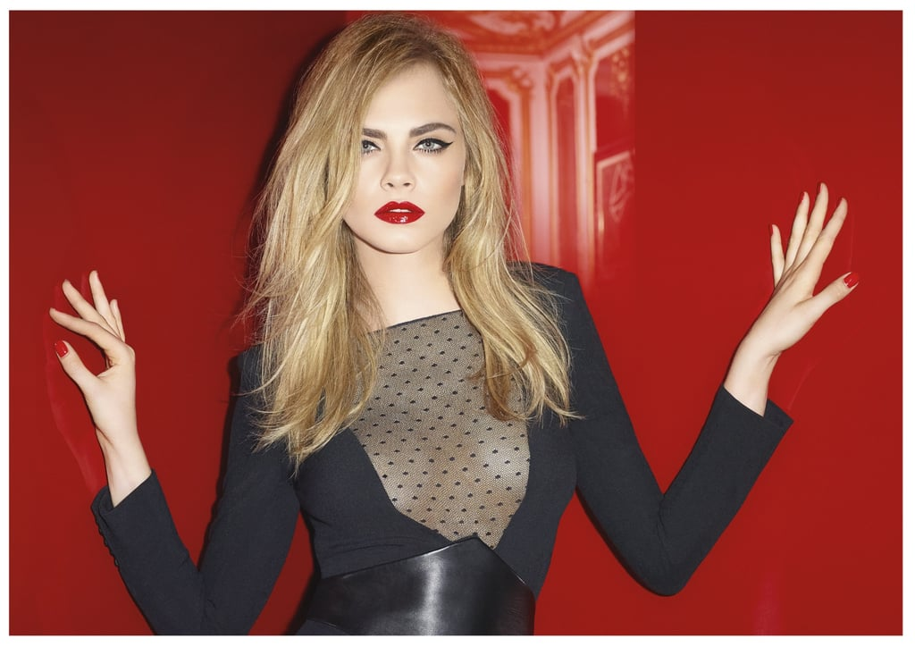 Yves Saint Laurent Cara Delevingne Campaign Red Lips