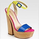 You'll be colour block popping in this pair.  Whitney Suede, Leather and Patent Leather Colorblock Sandals (£200.08)