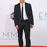 TV host Mario Lopez showed off his trademark dimples on the red carpet.