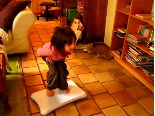 Capucine Plays Wii Fit Video