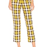 Lovers + Friends Britta Pant in Yellow Plaid