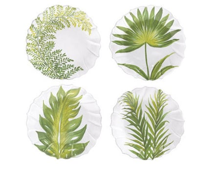 Palm Tree Salad Plates
